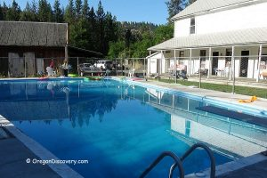 Swimming Pool & Historic Hotel at Ritter