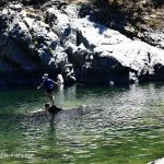 Swimming hole at Six miles site