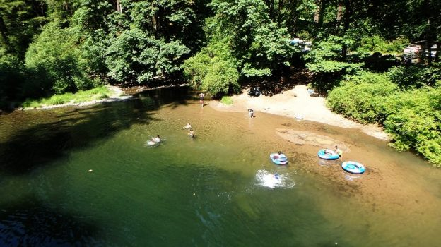 Bedrock Swimming – Fall Creek Recreation Area