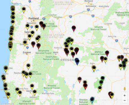 Rockhounding California Map.Oregon Rockhounding Map Free Fee Sites Oregon Discovery