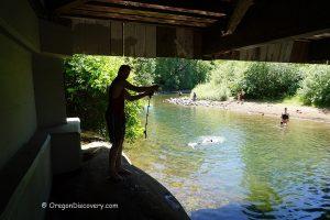 Larwood Bridge Swimming