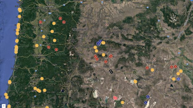 Oregon Rockhounding Map – Free & Fee Sites